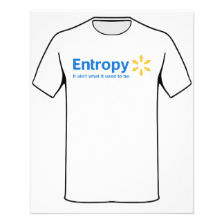 Entropy It Ain't What it Used to Be Flyer
