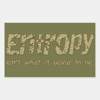 Entropy Rectangular Sticker