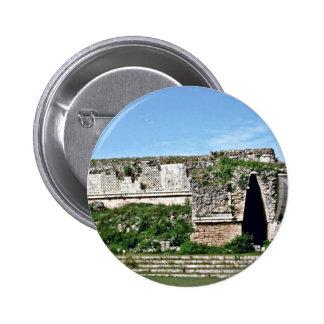 Entry Door In Mayan Ruins Uxmal Buttons