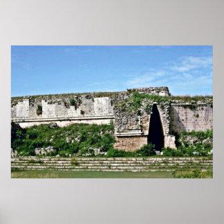 Entry Door In Mayan Ruins, Uxmal Poster