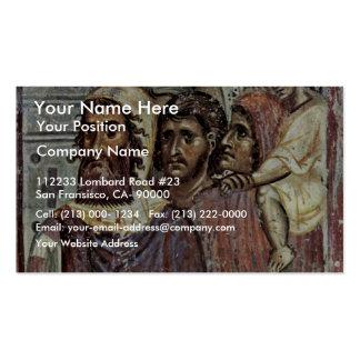 Entry Into Jerusalem, Detail By Meister Von Nerez Business Card Template