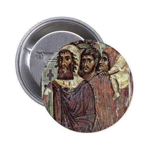 Entry Into Jerusalem, Detail By Meister Von Nerez 2 Inch Round Button