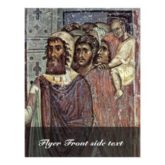 Entry Into Jerusalem, Detail By Meister Von Nerez Custom Flyer