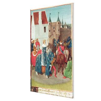 Entry into Paris of King Jean II  Le Bon Canvas Print