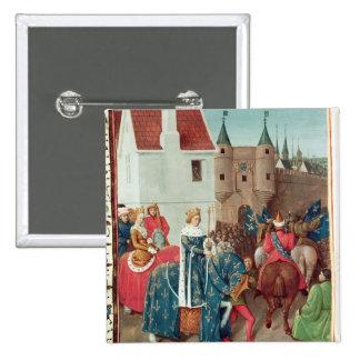 Entry into Paris of King Jean II  Le Bon Pinback Button