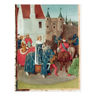 Entry into Paris of King Jean II  Le Bon Postcard