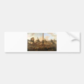 Entry into Rome of Jerzy Ossolinski, Emissary... Bumper Sticker