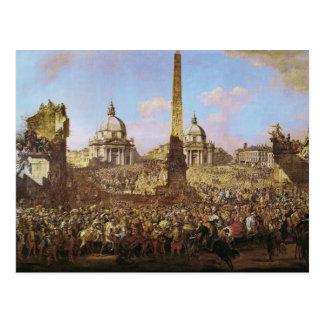 Entry into Rome of Jerzy Ossolinski Postcard