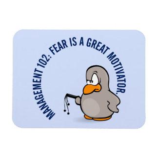 Entry level management skill: motivation thru fear magnet