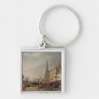Entry of Bonaparte, as First Consul Silver-Colored Square Keychain