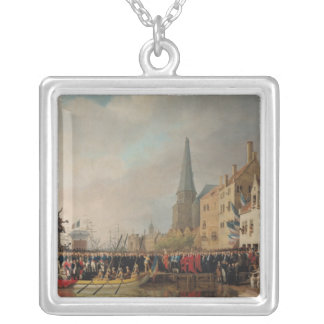 Entry of Bonaparte, as First Consul Silver Plated Necklace