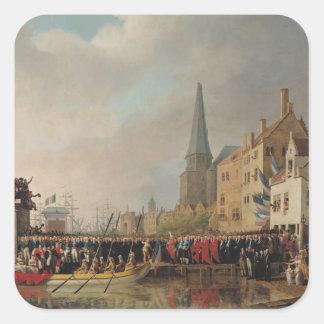 Entry of Bonaparte, as First Consul Square Sticker