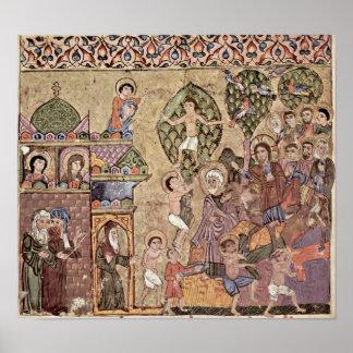 Entry of Christ into Jerusalem by Kais Salman Poster