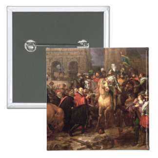 Entry of Henri IV into Paris, 22nd March 1594 Button