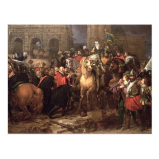Entry of Henri IV into Paris, 22nd March 1594 Postcard