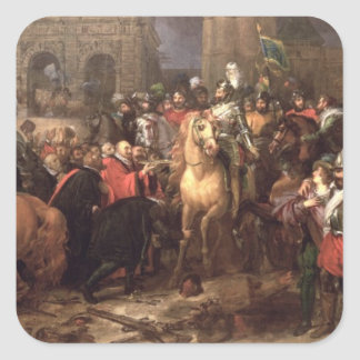 Entry of Henri IV into Paris, 22nd March 1594 Square Sticker