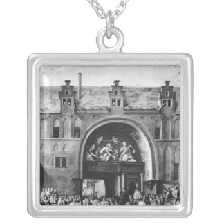 Entry of Hercule Francois of France Silver Plated Necklace