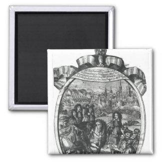 Entry of King Louis XIV  in Strasbourg Magnet