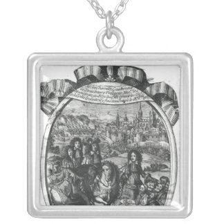 Entry of King Louis XIV  in Strasbourg Silver Plated Necklace