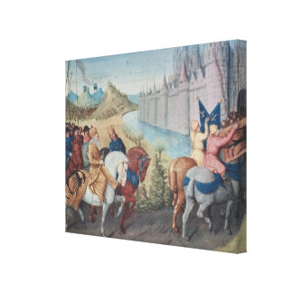 Entry of Louis VII  King of France and Conrad Canvas Print