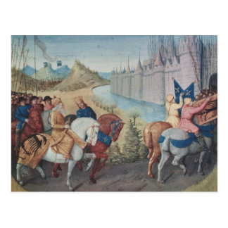Entry of Louis VII  King of France and Conrad Postcard