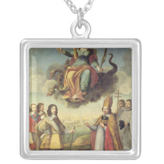 Entry of Louis XIII  King of France and Square Pendant Necklace