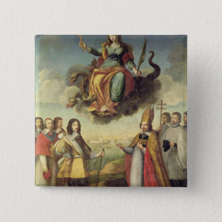 Entry of Louis XIII  King of France and Pinback Button