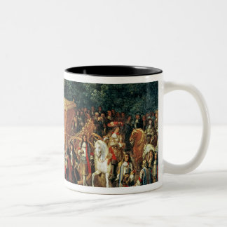 Entry of Louis XIV  and Maria Theresa  into Two-Tone Coffee Mug