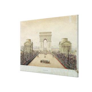 Entry of Napoleon III into Paris Canvas Print