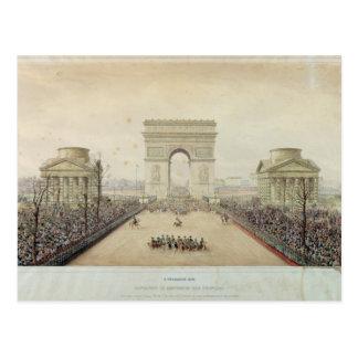 Entry of Napoleon III into Paris Postcard