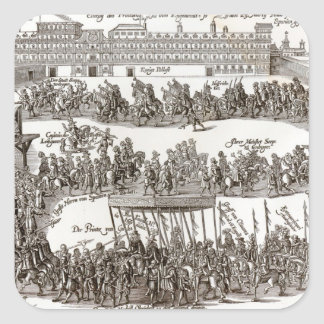 Entry of Prince Charles I into Madrid, 1623 Square Sticker