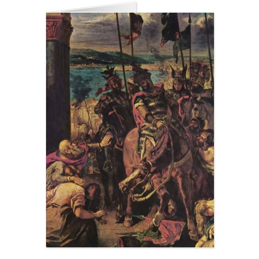Entry of the Crusaders in Constantinople Greeting Card