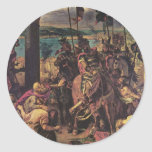 Entry of the Crusaders in Constantinople Classic Round Sticker