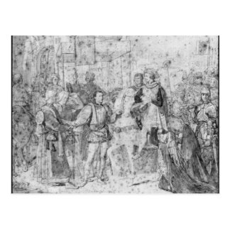 Entry of the Dauphin, the future Charles V Postcard
