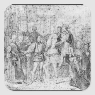 Entry of the Dauphin, the future Charles V Square Sticker