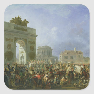 Entry of the Imperial Guard into Paris Square Sticker