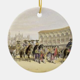 Entry of the Toreros in Procession, 1865 (colour l Ceramic Ornament