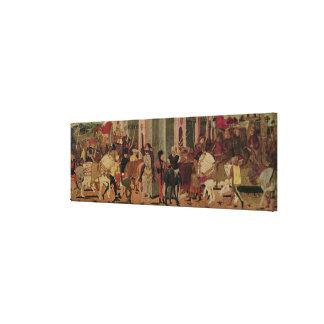 Entry of Titus Flavius Vespasian Canvas Print