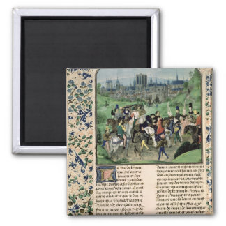 Entry of Young Louis II of Anjou into Paris Magnet