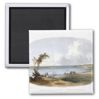 Entry to the Bay of New York taken from Staten Isl 2 Inch Square Magnet