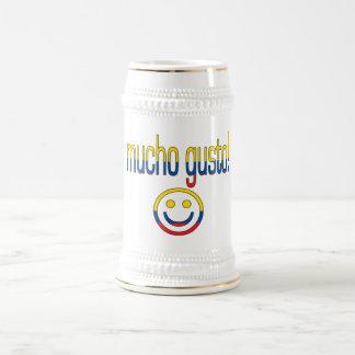 ¡Entusiasmo de Mucho! Colores de la bandera de Jarra De Cerveza