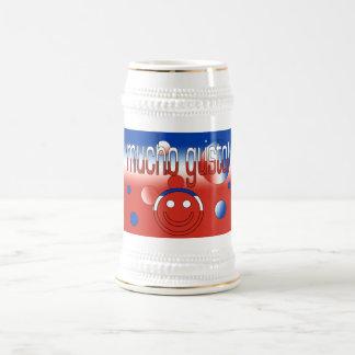 ¡Entusiasmo de Mucho! La bandera de Chile colorea Jarra De Cerveza
