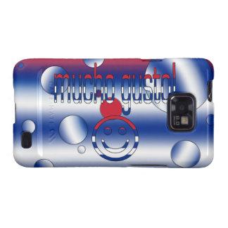 ¡Entusiasmo de Mucho! La bandera de Cuba colorea a Samsung Galaxy S2 Carcasas