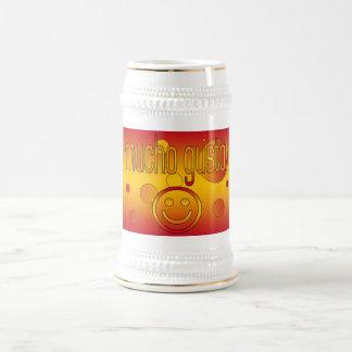 ¡Entusiasmo de Mucho! La bandera de España colorea Jarra De Cerveza