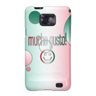 ¡Entusiasmo de Mucho! La bandera de México colorea Galaxy S2 Carcasas