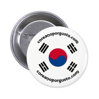 Entusiasmo del por de Chapa de Coreano Pin Redondo 5 Cm