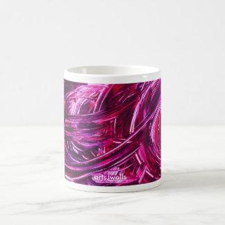 ¡ENTUSIASMO, ENTUSIASMO, ESPERANZA! Diseño púrpura Taza De Café