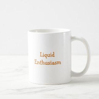 Entusiasmo líquido taza de café