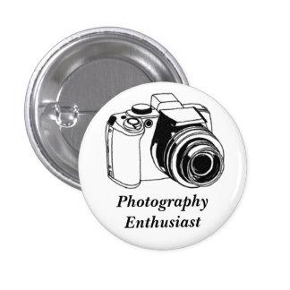 Entusiasta de la fotografía pin redondo de 1 pulgada