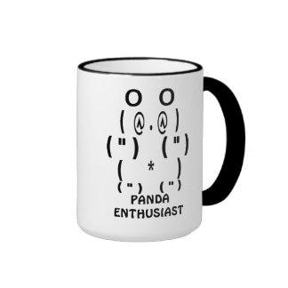 Entusiasta de la panda taza de café